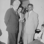 Freddie and New York Senator Kenneth B. Keating at the Thomases' home on Skuse Street 1957
