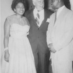 Midge, Freddie and New York Senator Kenneth B. Keating at the Thomases' home on Skuse Street 1957